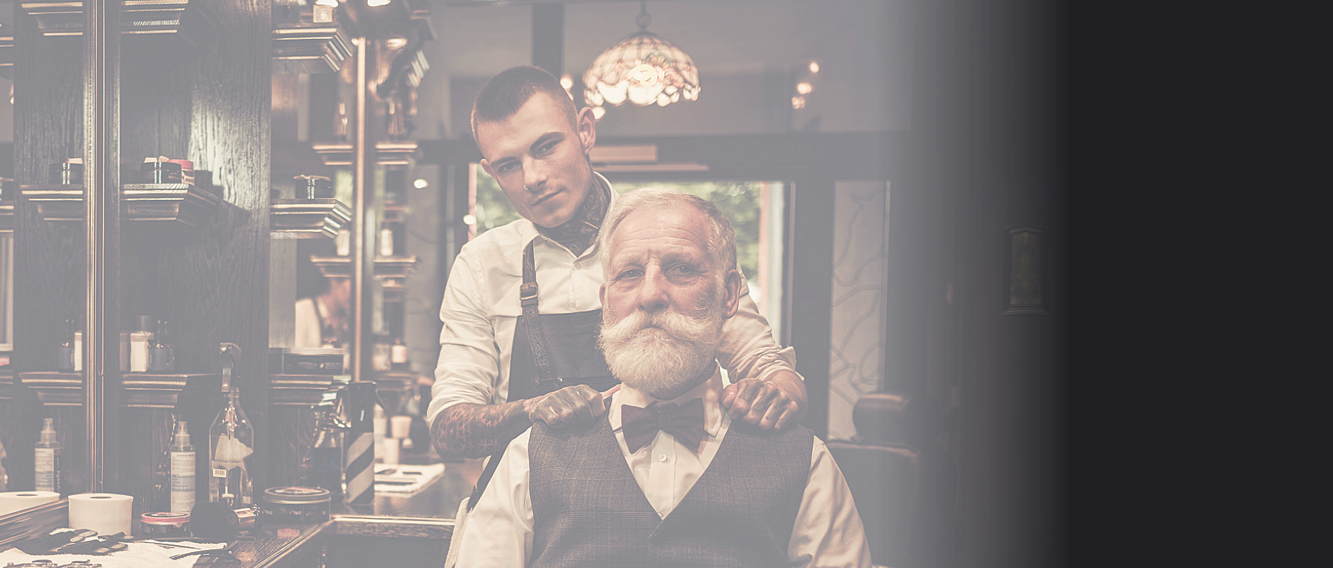 customer and barber