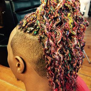 man with braided hair